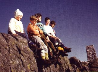 Braehead gang on top of Schiehallion,